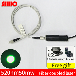 Image 1 - High quality 520nm 50mw green light fiber laser optical coupling machine coupling rate >90% detection tool