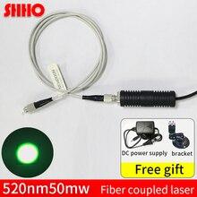 Hohe qualität 520nm 50mw grün licht faser laser optische kopplung maschine kupplung rate >90% erkennung werkzeug
