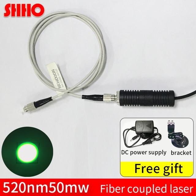Wysokiej jakości 520nm 50mw zielone światło światłowodowe sprzęgło laserowe sprzęgło szybkość> 90% narzędzie do wykrywania