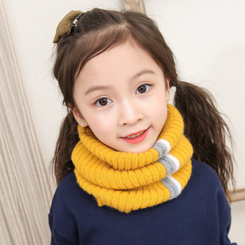 Apparel Accessories Lovely Kids Soft Winter Scarf Pompom Baby Scarf Boys Girls Warm Neck Scarves Knitting With Fur Ball Neckerchief Foulard Moderate Price Girl's Accessories