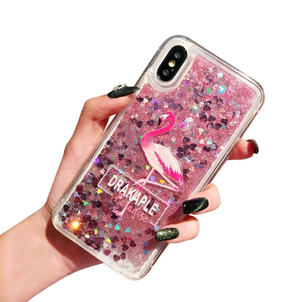 KISSCASE Flamingo Drijfzand Telefoon Case Voor Honor V20 8X MAX 10 9 Lite Pro Soft TPU Case Voor HUAWEI P30 p20 Mate 20 10 Lite Funda - 5