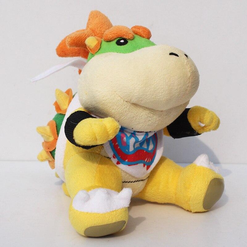 Super Mario bros plush font b toys b font 18cm Bowser JR Koopa Bowser dragon plush