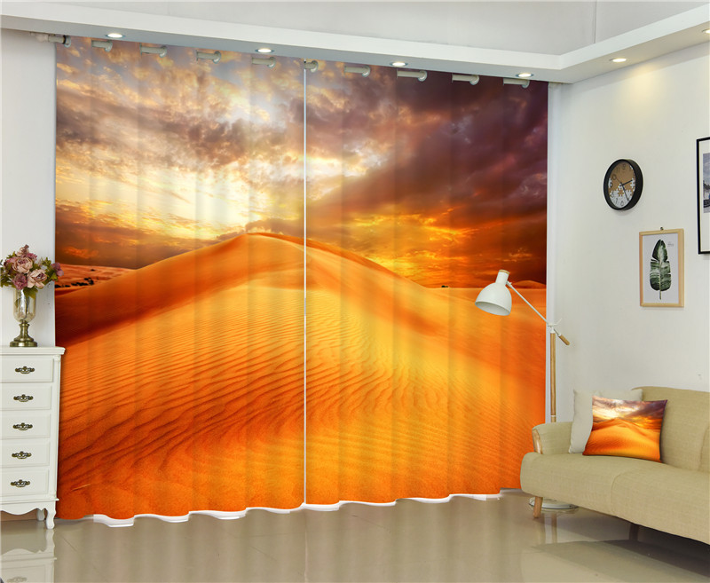 2017 Desert scenery Blackout Window Drapes Luxury 3D Curtains For Living room Bed room Office Hotel Home Wall Tapestry2017 Desert scenery Blackout Window Drapes Luxury 3D Curtains For Living room Bed room Office Hotel Home Wall Tapestry