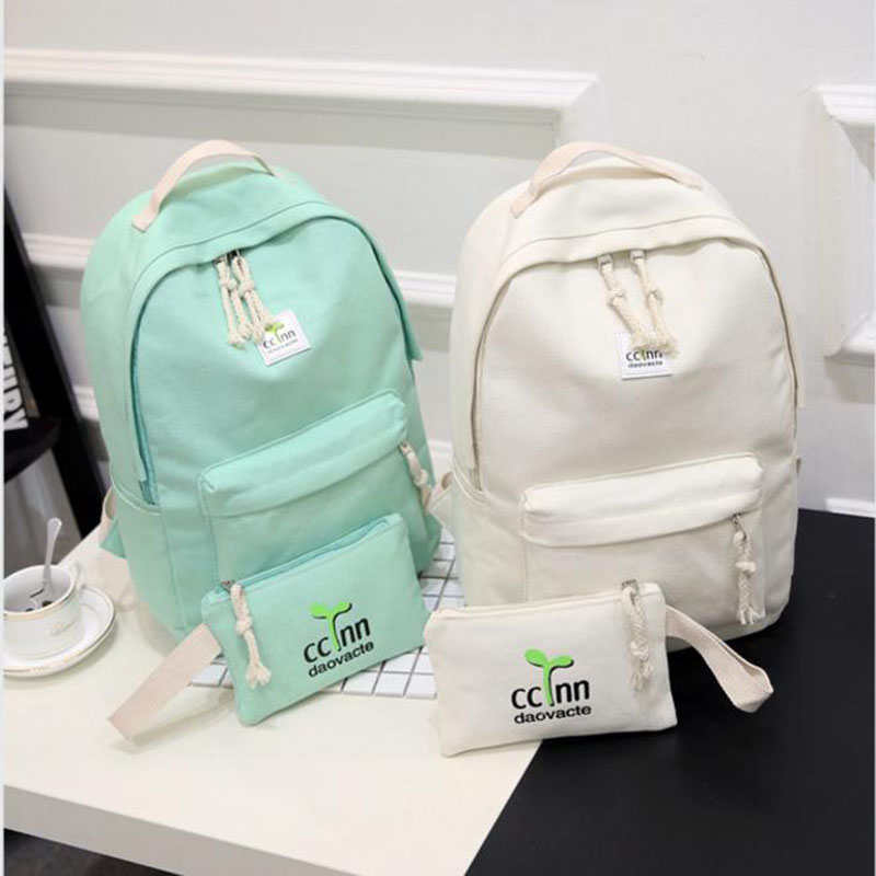 2017 Solid Color Women Backpack High Quality Cute Canvas Backpack Female School Bags For Teenagers Mochila Escolar vintage backpack women cate cute bag canvas printing backpacks school bags for teenagers girls rucksack mochila feminina escolar