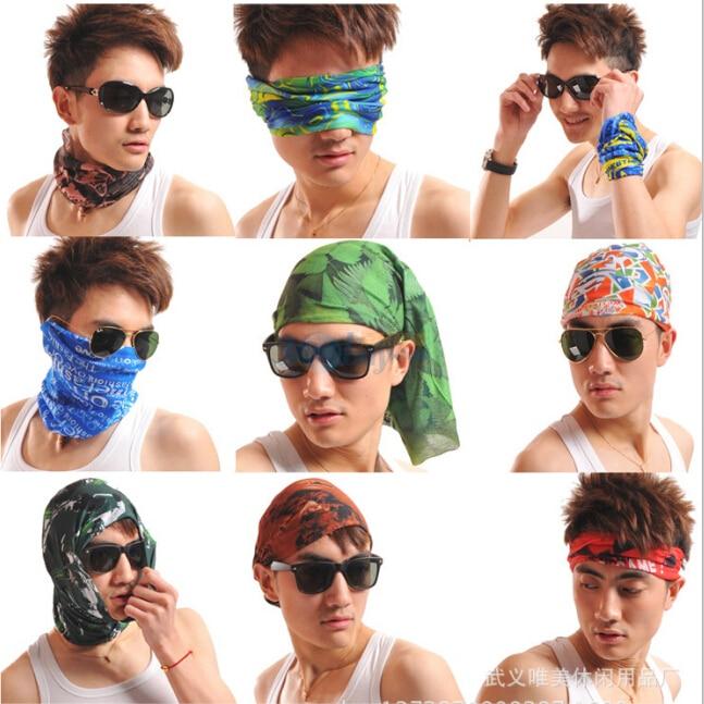 Sommer Vielzahl Frauen Männer magische Stirnband Kopftuch Frauen weibliche Halstücher Set Halstuch Radfahren Maske Schädel Bandana Fahrrad Männer