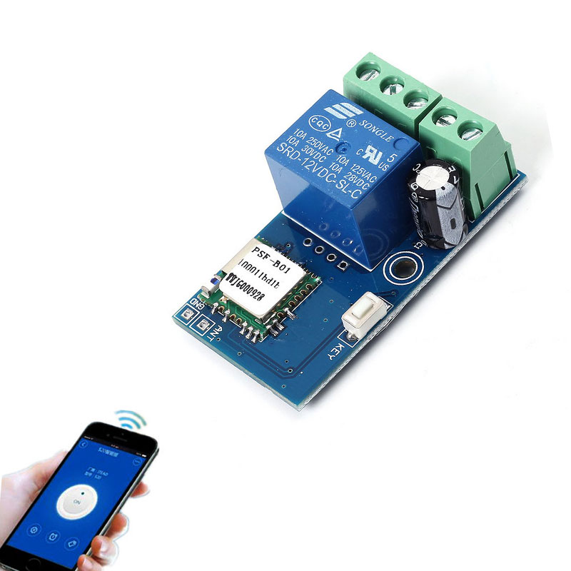 DC 12V Wireless Wifi Relay Switch Module Mobile Phone Remote Control Timer Jog Mode Low Power For Android IOS Smart Home