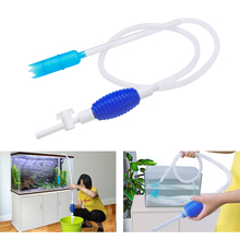 Aquarium Filter Fish Tank Cleaner Vacuum Gravel Water Siphon Pump Gravel Rake Aquatic Pump Aquarium Cleaning Tools S L