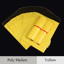 Mail Packaging Poly Mailer Package Shipping Plastic Mailing Bag By Envelope Courier Yellow Wholesale Bulk Self