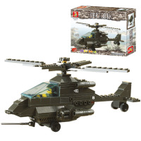 Brand Wholesale Army Apache Fighter 158pcs Building Blocks For Children S Educational Toy DIY Creative Bricks