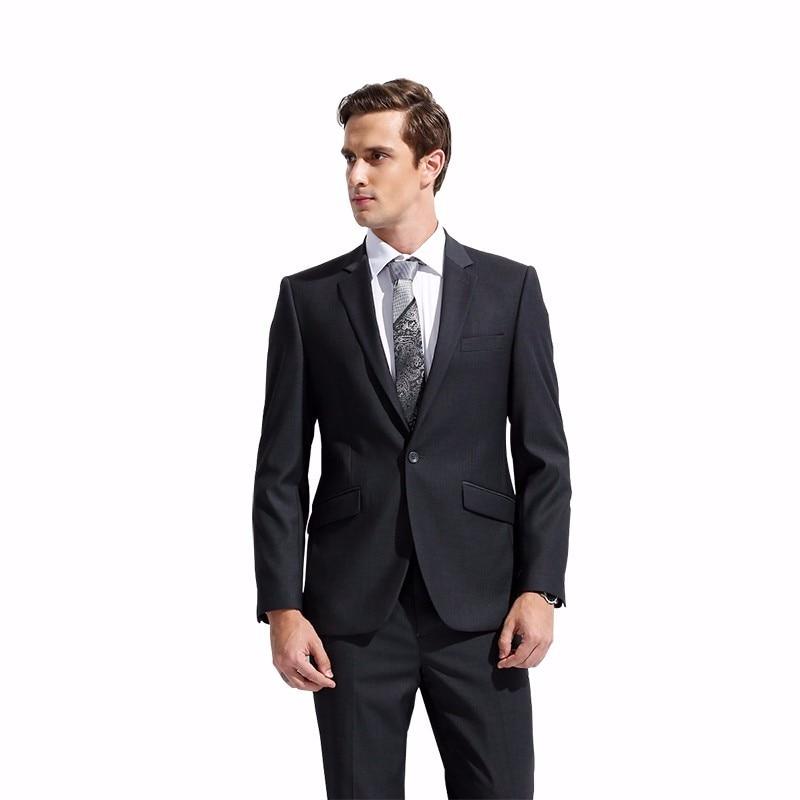 2017 Custom Made Grey Tweed Formal Men Suit Slim Fit Classic Custom Mens Tuxedo 3 Piece