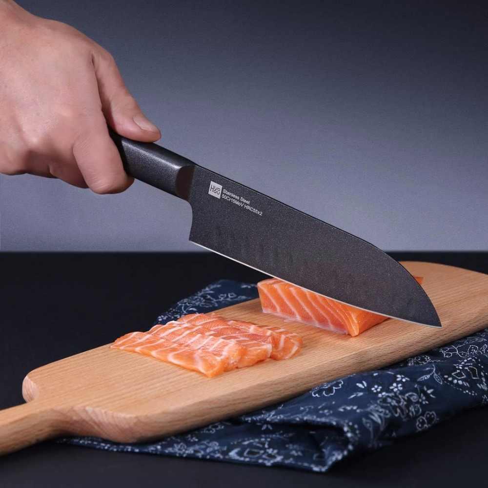 Xiaomi Mijia Original HuoHou Kitchen Set 4 PCS Nano-ceramic knife 4 6 8 Inch Furnace Thinner Environmental D5 Nano Ceramic Knife
