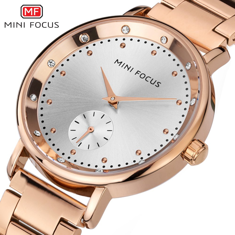 MINI FOCUS Ladies 2018 Top Fashion Female Dress Quartz Watch New Famous Brand Women Watches Montre Femme Clock Relogio Feminino 2017 new brand fashion quartz watch famous women black and white gril clock leather strap watches relogio feminino lz710
