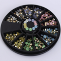 1 caixa colorida sharp inferior strass 3d decoração de unhas 3mm opala manicure da arte do prego acessórios de decoração