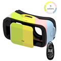 VR BOX iii 3.0 Virtual Reality 3D Glasses Mini Headset Colourful Cardboard Head Mount For 4.7-6' Mobile + Bluetooth Remote