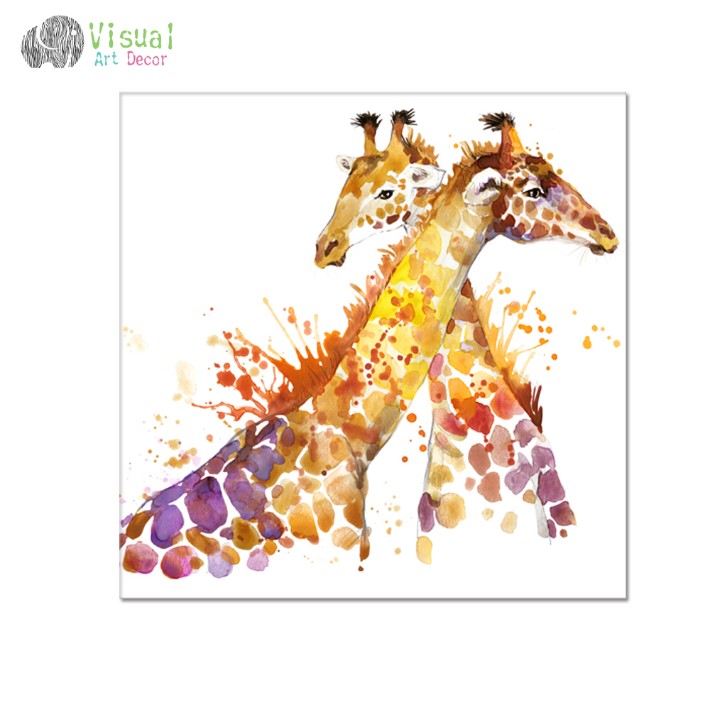 Animal Oil Painting Prints Giraffe Picture Prints Hd One