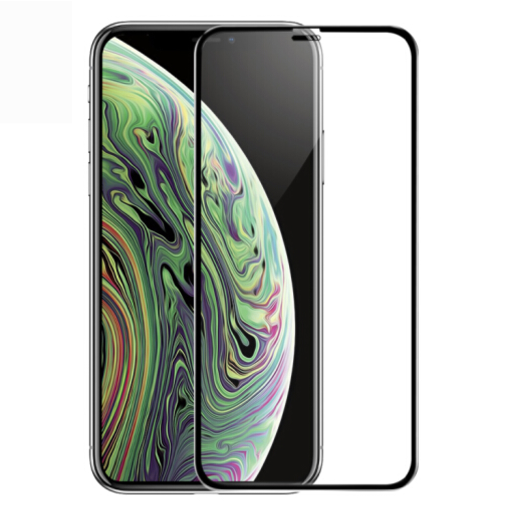 iPhone XS MAX screen protector iPhone XR X glass on iPhone 7 8 protective glass on iPhone 6 6S plus tempered glass full cover