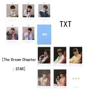 Youpop KPOP TXT CROWN The Dream Chapter Star Album Photo Card Hip Hop Self Made Paper Cards Autograph Photocard XK615(China)