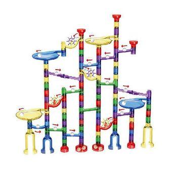 80 122 sztuk Marble Run zestaw zabawek dla chłopców dziewcząt klocki budowlane marmur gra w labirynt zabawki świąteczne prezenty dla dziecka tanie i dobre opinie Z tworzywa sztucznego not to eat 8 ~ 13 Lat 5-7 lat