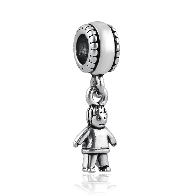 Beads & Jewelry Making Free Shipping 1pc Christmas Gift Gold Silver 2 Tones Boy Swing Hanging Bead Charms Fits European Pandora Charm Bracelets A330
