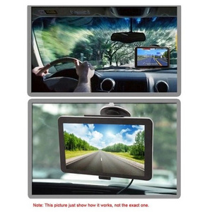Image 1 - Car GPS Navigation 5 Inch Capacitive Screen Car MP3 Video Player USB 8G Internal Memory Car FM Transmitter 66 Channels
