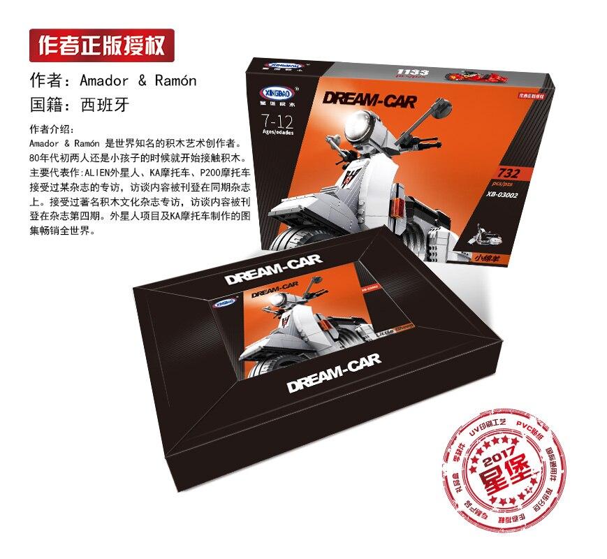 XingBao 03002 Bloque 732 Unids Genuino Creativo Technic Serie - Juguetes de construcción - foto 5