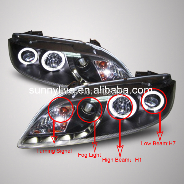 For Mazda 6 Angel Eyes Led Head Lamp Headlights Front Light 2004 To 2011year Sn V2 Type In Car