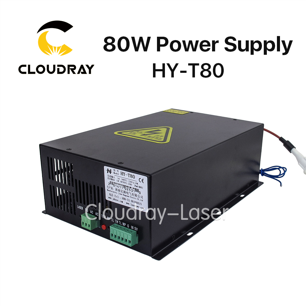 Cloudray 80W CO2 Laser Power Supply Source  for CO2 Laser Engraving Cutting Machine HY-T80 high voltage flyback transformer hy a 2 use for co2 laser power supply