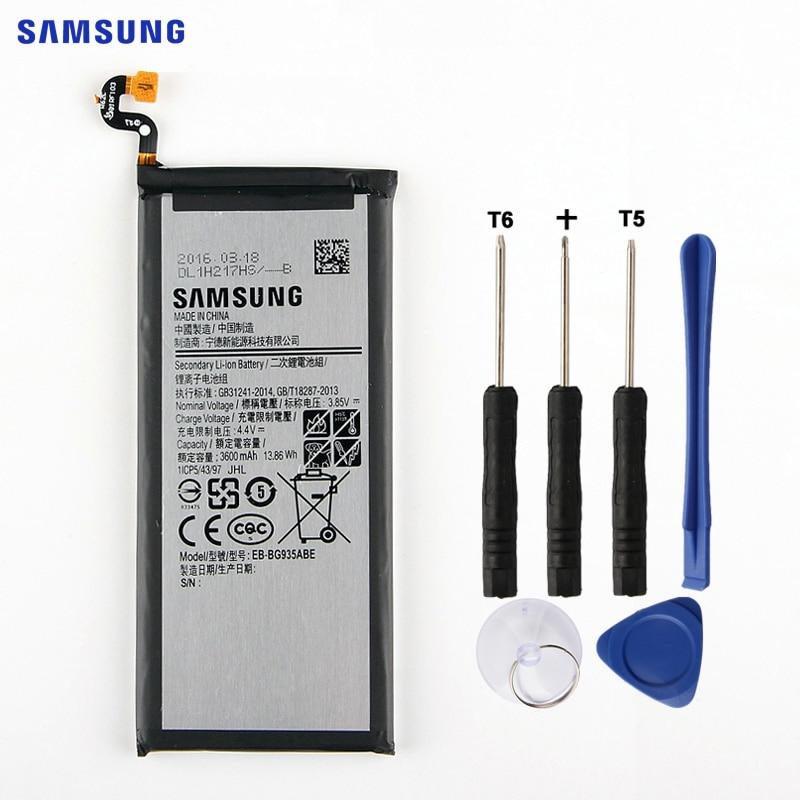 SAMSUNG Batteria Originale EB-BG935ABE Per Samsung GALAXY S7Edge S7 Bordo G9350 SM-G935FD SM-G935F SM-G935P G935P SM-G935F 3600 mah