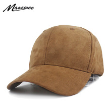 Unisex Soft Suede Baseball Cap Casual Solid color Sports Hat