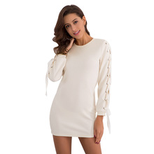 Wish summer dress sweater sweater explosion 2018 new style European Style  Sexy knitted dress in Europe e27b34f364cf