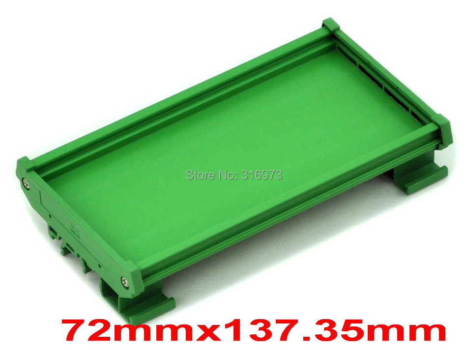 ( 50 pcs/lot ) DIN Rail Mounting Carrier, for 72mm x 137.35mm PCB, Housing, Bracket.
