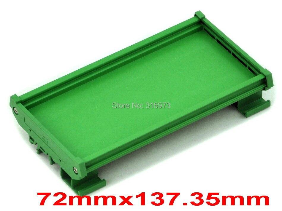 ( 50 Pcs/lot ) DIN Rail Mounting Carrier, For 72mm X 137.35mm PCB, Housing, Bracket.