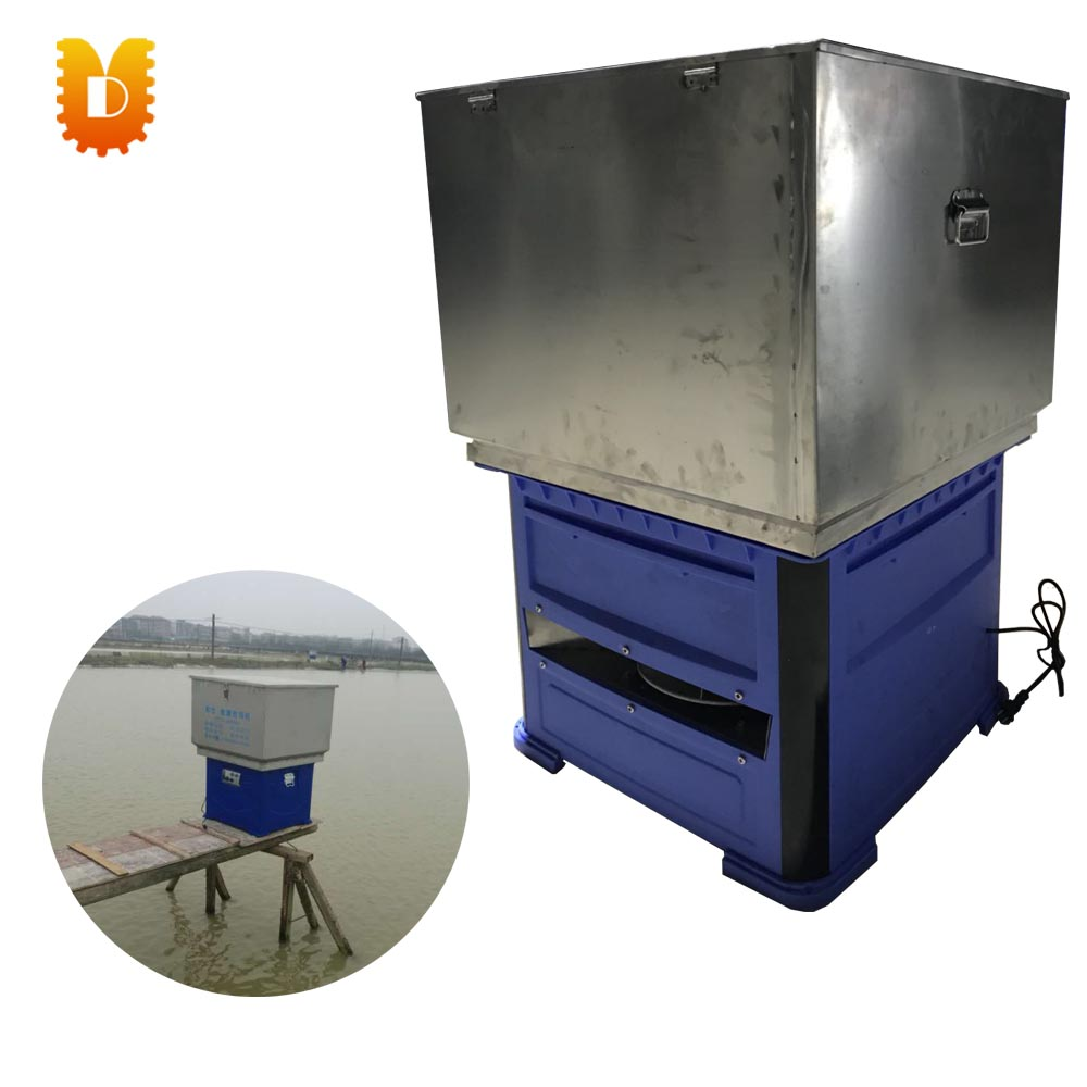 80kg Automatic one week continuous fish feeding machine/timing pond fish food feeder 40 kg semiautomatic fish feeding machine for pond