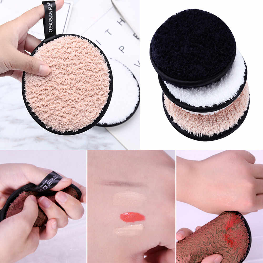 Make up remover promotes healthy Cleansing Makeup skin  Microfiber Cloth Pads Remover Towel Face lazy cleansing powder puff X425