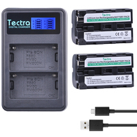 Tectra 2Pcs NP F550 NP F550 Replacement Battery LCD USB Dual Charger For Sony NP F570