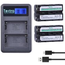 2Pcs NP-F550 NP-F570 NPF550 NPF50 Battery + LED USB Dual Charger for Sony CCD-SC5 CCD-TRV80PK DCR-TRV820 CCD-TR67 Battery