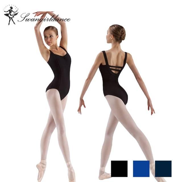 f7c09e7c9 Online Shop free shipping adult tank black ballet Leotard for dance ...