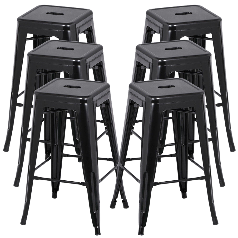 Admirable Us 66 6 30 Off Hot Gczw 6Pcs Metal Vintage Counter Bar Stools Industrial Breakfast Bar Cafe Bistro Black In Bar Stools From Furniture On Aliexpress Creativecarmelina Interior Chair Design Creativecarmelinacom