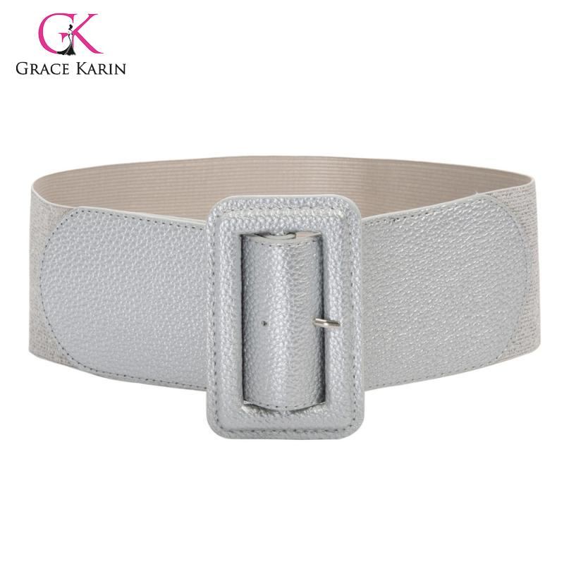 Women New Fashion Waistband Buckle Classic Retro Elastic Belts Wide High Stretchy Elastic Suitable For Your Formal Casual Wear