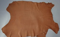 Brown Genuine Pig grain skin for shoes Lining fabric raw leather material