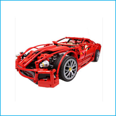 ФОТО DHL with Original Box 1:10 Decool 3333 599GTB F1 Racing Model Supercar Building Blocks Toy Red Assemblage Brain Game Gift