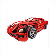 DHL with Original Box 1:10 Decool 3333 599GTB F1 Racing Model Supercar Building Blocks Toy Red Assemblage Legoe Brain Game Gift
