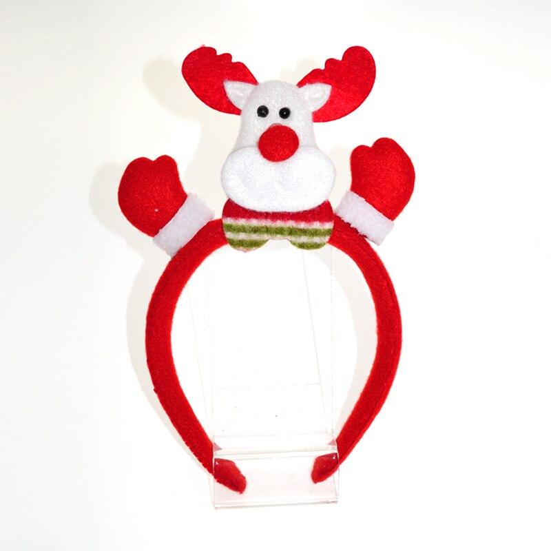 60 uds. Cinta de pelo luminosa de Navidad Santa Claus muñeco de nieve ciervo oso diadema accesorios de fiesta suministros de decoración de Navidad - 6