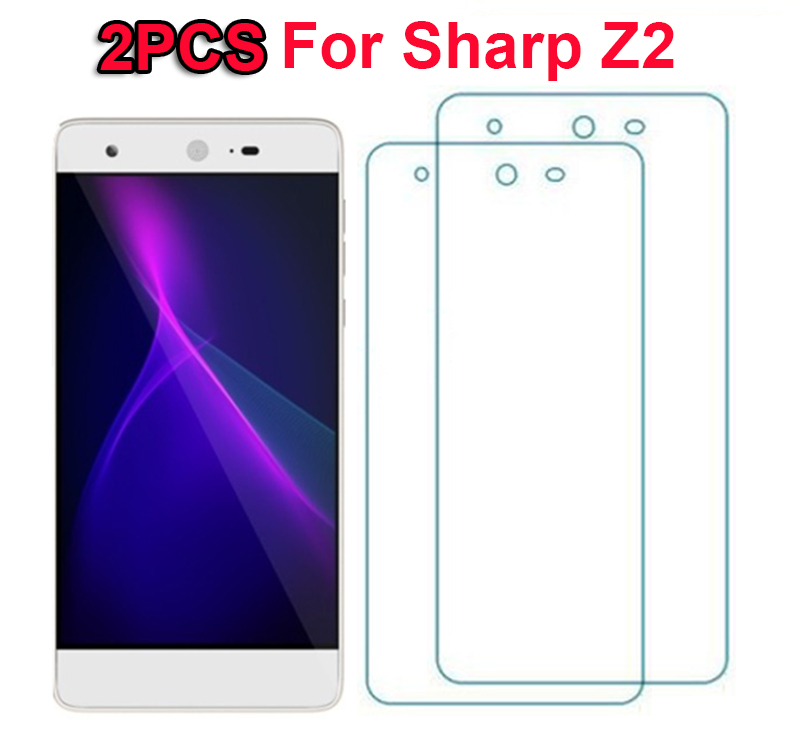 Galleria fotografica 2PCS Tempered Glass for Sharp Z2 Case Glass 9H Explosion-proof Protective Film Screen Protector for Sharp Z2 Mobile Phone Film *