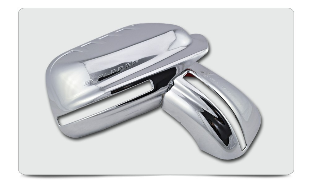 ABS Plating Chrome Mirror Cover For Ford Explorer 2012 2013 FULL With Turn Signal Light Cutout For North And South American c