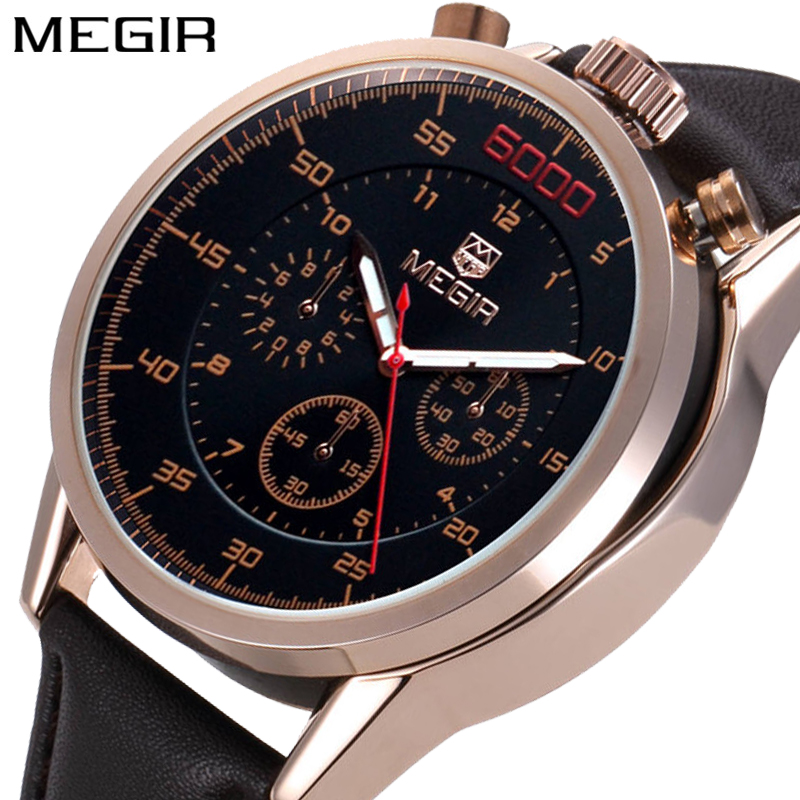 MEGIR Chronograph Mens Watches