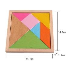 Desarrollo temprano tangram de madera