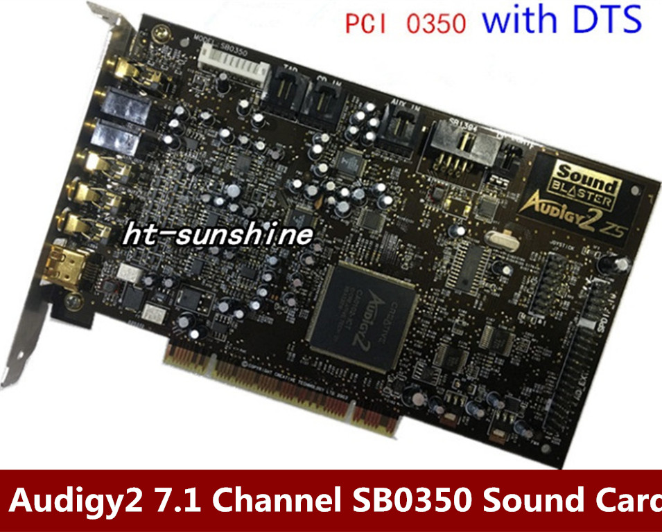 Original disassemble innovative Audigy2 7.1 Channel Sound Card SB0350 support DTS цена