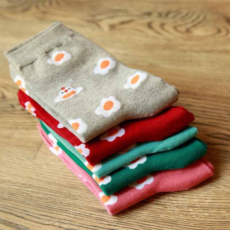 Winter Autumn New Women In Tube Sock poached egg Cotton EUR35-40