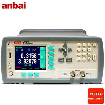 AC Düşük Ohm Metre Pil Dahili Direnç Ölçer Doğruluk Direnci 0.5% Voltaj 0.1% Voltaj 0.0001 V-50 V DC AT526